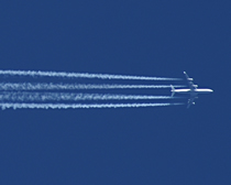 Aircraft seen while flying in Class A airspace